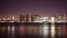 Brooklyn bay manhattan panorama view 4k time lpase from city stock video