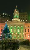 Brooklyn Borough Hall Christmas 2010 Royalty Free Stock Images