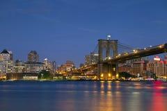 Brooklyn-Brücke. Stockbild