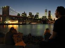 Brooklyn-Brücke Manhattan Lizenzfreies Stockfoto