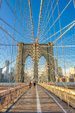 Brooklyn-Brücke nach Manhattan, New York Stockbild