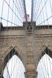 Brooklyn-Brücke nahe oben 3 Stockbild