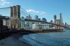 Brooklyn-Brücke New York Lizenzfreies Stockfoto