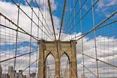 Brooklyn-Brücke in New York Lizenzfreies Stockbild