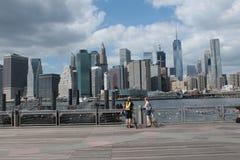 Brooklyn-Brücke, New York Stockbild