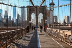 Brooklyn-Brücke, New York City Stockbilder