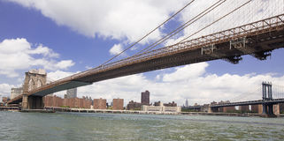 Brooklyn-Brücke New York City, Manhattan Brücke im backgroun Lizenzfreies Stockbild