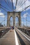 Brooklyn-Brücke - New- York CitySkyline Stockbild