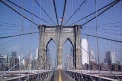 Brooklyn-Brücke - New York - USA stockbild