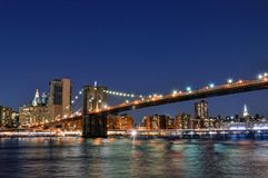 Brooklyn-Brücke in NYC Lizenzfreies Stockfoto