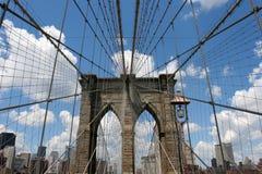 Brooklyn-Brückeen-Ansicht Stockfotos