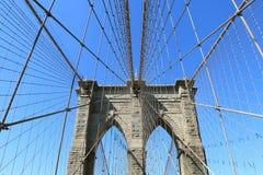Brooklyn-Brückeen- und Manhattan-Skyline Lizenzfreies Stockfoto