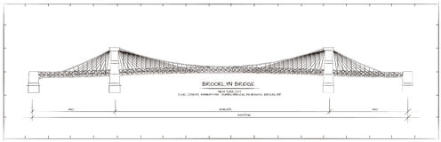 Brooklyn-Brücken-Ansicht Stockfotos