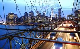 Brooklyn-Brücken-Verkehr lizenzfreies stockbild