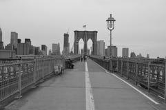 Brooklyn-Brückeen-Gehweg Lizenzfreie Stockbilder