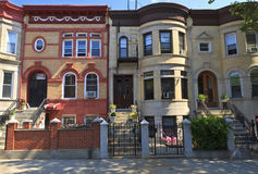 Brooklyn Brick Apartments Royalty Free Stock Images