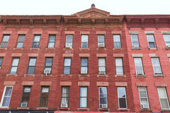 Brooklyn brickwall building facades in New York Stock Photo
