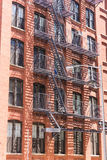 Brooklyn brickwall facades in New York Royalty Free Stock Images
