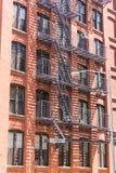Brooklyn brickwallfasader i New York Royaltyfria Bilder