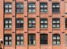 Brooklyn brickwallfasader i New York Fotografering för Bildbyråer