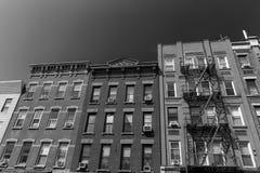 Brooklyn brickwallfasader i New York USA Arkivbilder