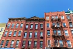 Brooklyn brickwallfasader i New York USA Royaltyfria Bilder