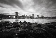 brooklyn bridżowa linia horyzontu Manhattan fotografia stock