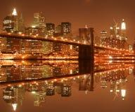 brooklyn bridżowa noc Obraz Royalty Free