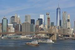 brooklyn bridżowy miasto nowy York Fotografia Royalty Free