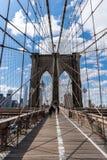 brooklyn bridżowy miasto nowy York Obrazy Royalty Free