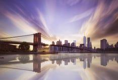 brooklyn bridżowy zmierzch Zdjęcia Stock