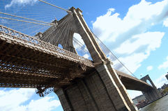 Brooklyn bridge. In new york city Stock Image