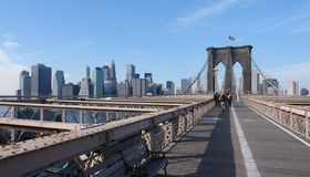 At Brooklyn Bridge royalty free stock photos