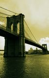 Brooklyn Bridge. Image of Brooklyn Bridge processed as duotone in photoshop Stock Photos