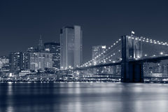 Brooklyn Bridge. Image of Brooklyn Bridge with Manhattan skyline in the background Stock Photo
