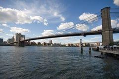 Brooklyn Bridge. From the Brooklyn side Royalty Free Stock Photo