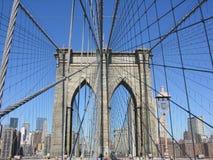 Brooklyn Bridge. The Brooklyn Bridge connecting Brooklyn to Manhattan across the East River Stock Photography