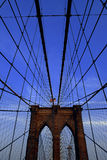 Brooklyn Bridge. New York City?s brooklyn bridge on a clear blue summer day Royalty Free Stock Image