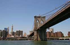 Brooklyn Bridge. The New York City skyline - Brooklyn Bridge Royalty Free Stock Photo