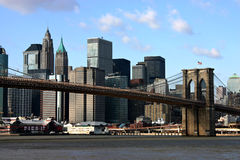 Brooklyn Bridge. And Lower Manhattan Royalty Free Stock Image