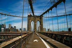 Brooklyn Bridge. The Brooklyn Bridge from a nice perspective Stock Photos