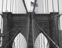 Brooklyn Bridge. View at the Brooklyn Bridge in New York City Royalty Free Stock Photography