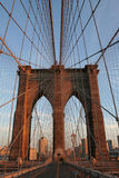 Brooklyn Bridge. As sun sets on NYC Stock Photo