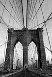 Brooklyn Bridge. Looking toward Brooklyn from Manhattan Royalty Free Stock Photos