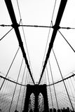 Brooklyn bridge. The famous brooklyn bridge black and white dramatic photo Royalty Free Stock Photos