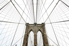 Brooklyn bridge. The famous brooklyn bridge in new york Stock Image