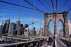 Brooklyn Bridge. With New York City Skyline Stock Photo