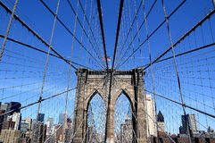 Brooklyn Bridge. With New York City Skyline Royalty Free Stock Photos