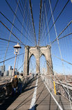 On the Brooklyn Bridge Stock Photography