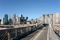 On the Brooklyn Bridge Stock Photos